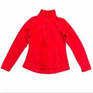 Old Navy Full Zip Fuschia Flame Fleece Coat Jacket